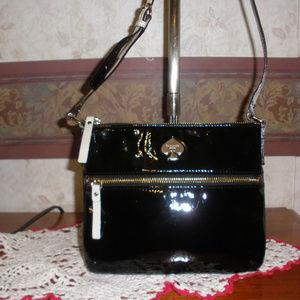 Kate Spade Patent Leather Black/White Crossbody